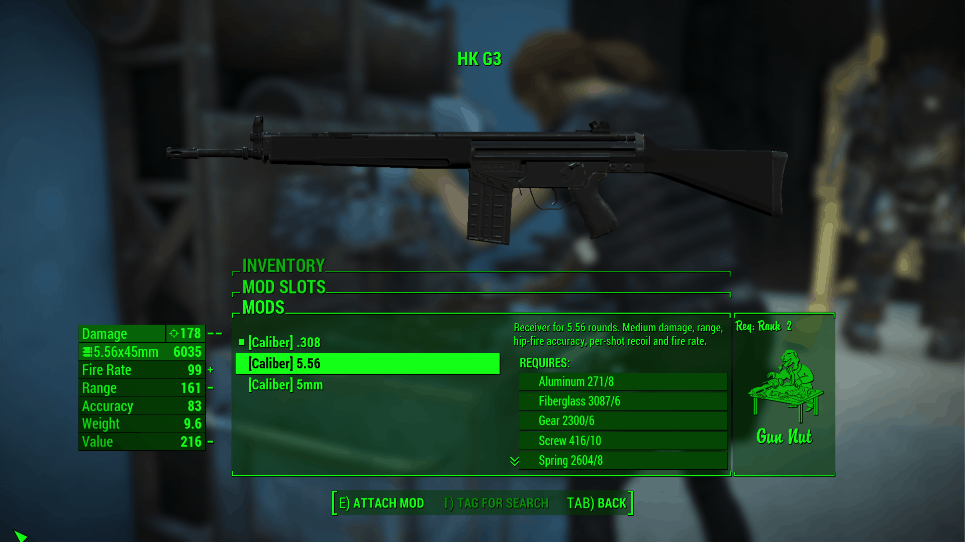 Receivers Overhaul For Hk G3 Family Fallout 4 Mod Download Someone in fo4edit nexus comments said that this value is 10/value=rateoffile. fallout 4 mods